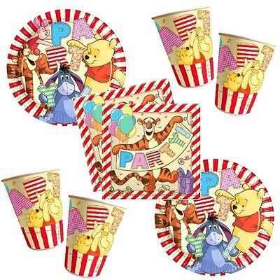 Winnie the Pooh II Party Becher Servietten Pappteller Kinder Geburtstag 52 tlg. (Winnie The Pooh Geburtstag Party)