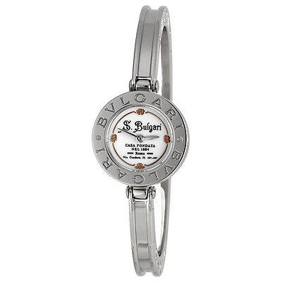 Bvlgari White Dial Stainless Steel Ladies Watch 101743