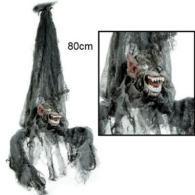 Sound Halloween (Werwolf zum Hängen mit Sound & Bewegung gruselige Halloween Deko Vampir Zombie)