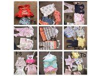 Job lot / car boot / bundle baby clothes tiny baby / first size / 0-3 etc