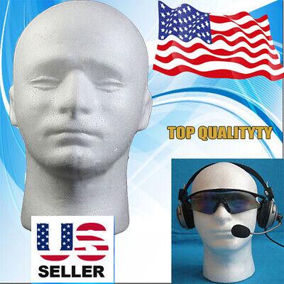 Styrofoam Foam Mannequin Male Head Model Wig Glasses Hat Headphone Display Stand