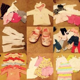 Baby Girl 3-6 Month Bundle of Clothes