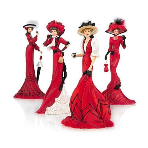 ELEGANT WOMEN Figurine Collection: Elegance Of Coca Cola - Full Set Brand New