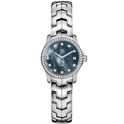 GIFT IDEA TAG HEUER LADIES LINK WJF1419.BA0589 SWISS QUARTZ DIAMOND PEARL (Gift Tag Ideas)