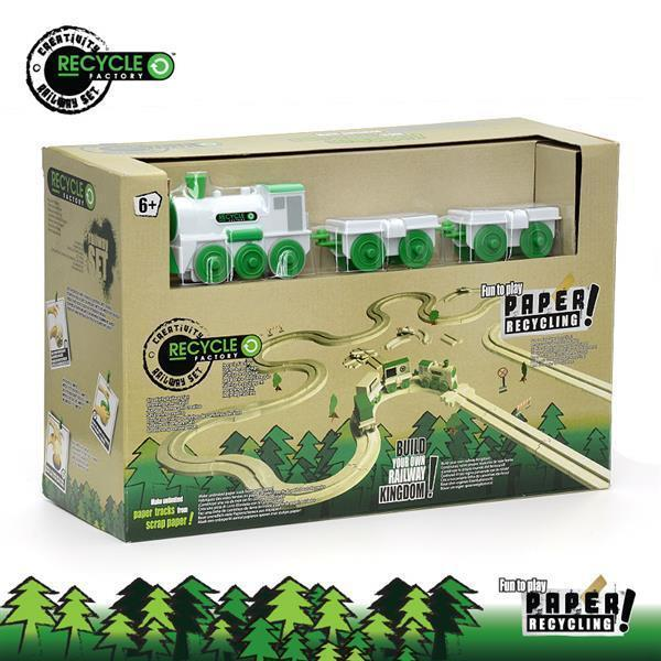 Recycle Factory GH-DT1008 Fun Eco-Friendly Build Your Own Railway Train Set