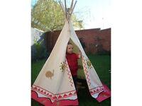 Kids wigwam teepee play tent, open box but brand new