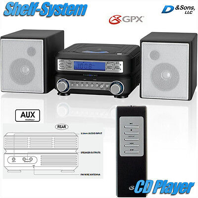 NEW GPX AM/FM Radio CD Player Portable Stereo Shelf System