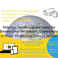Delivery & Installation Video Surveillance Camera Systems DVR