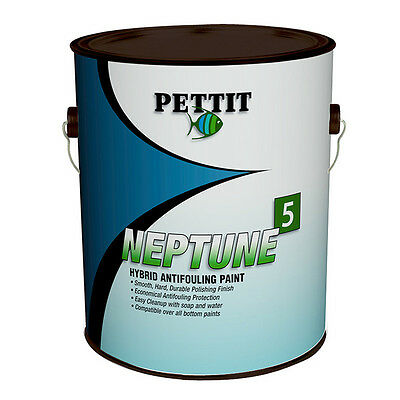 Pettit Neptune 5 Hard Hybrid Thin Antifouling Bottom Paint Green Gallon 1343