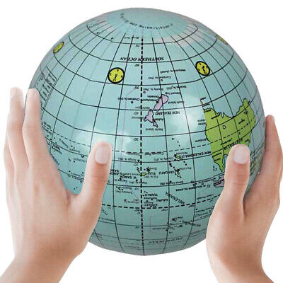 1PCS Planet Earth Globe 25cm Inflatable English Words and Map Bubble Balloon - Inflatable Planets