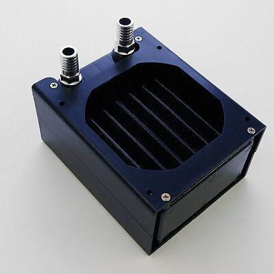 RADIATORE x RAFFREDDAMENTO ACQUA 8x8cm 80x80 ALLUMINIO WATERCOOLING PC nero