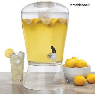 3 Gallon Ice Core Dispenser Stand Drinks Lemonade Party Drink Beverage Picnics