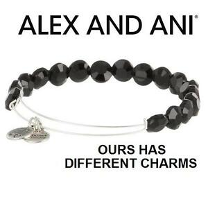 NEW ALEX AND ANI BEAD BRACELET JEWELLERY - JEWELRY - LUXE BEAD BANGLE - JET LUXE 102974679