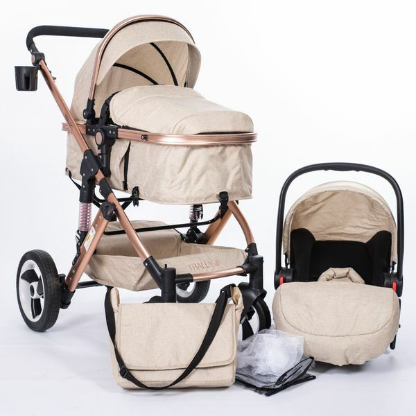 Kinderwagen 3in1 Trally® Komplettset Babywanne=Buggy Autositz Babyschale NEU BSK