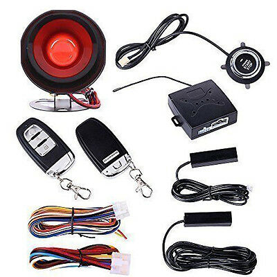 Great Auto Alarm System Keyless Entry & Engine Ignition Push Starter Button