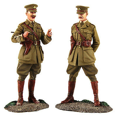 """BRITAINS SOLDIERS 23098 """"The Conference"""" British Major & Lieutenant Meeting WW1"""