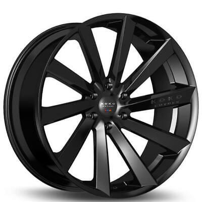 4/set Koko Kuture Kapan Black 20x9/20x10.5 Wheels Fit Maserati GranTurismo