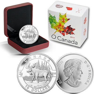 2014 O Canada 1/2 oz Silver $10 -  The Moose -
