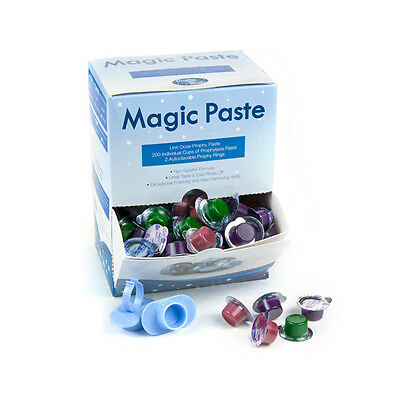 Professional Grade Prophy Magic Paste 200 Cup Boxes. Many Flavors Grit Levels