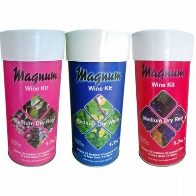 Magnum Wine Home Brew Kit Refill 30 Bottle Making Rose Red And White SELECTION