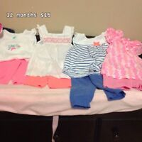 12 months clothing