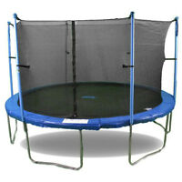 Trampoline with safety netting