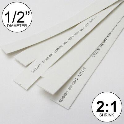12 Id White Heat Shrink Tube 21 Ratio Polyolefin 25ft 0.5 Inchfeetto 13mm