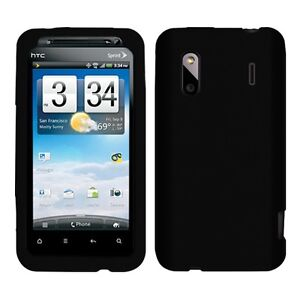 Silicone Soft Skin Cover Case for HTC Evo Design 4G / Hero S