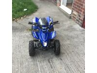 50cc quad 2015 model brand new has just say been ran in payed 499 at xmas