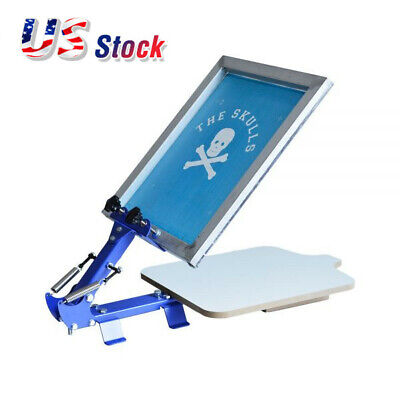 Us Stock 1 Color 1 Station T-shirt Silk Screen Printing Machine