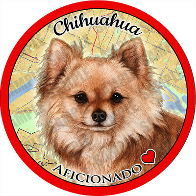 Chihuahua Long Hair Red Absorbent Porcelain Dog Breed Car Coaster