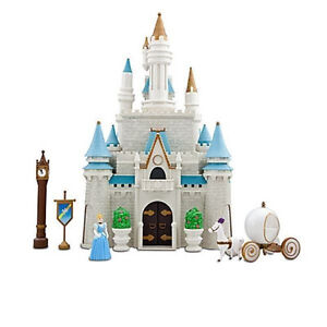NEW in BOX -DISNEY PRINCESS CINDERELLA CASTLE Dollhouse Play Set with figures
