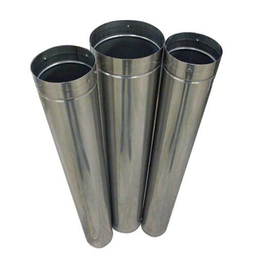"""6"""" x 48"""" RIGID 304L Stainless Steel Stove Pipe"""