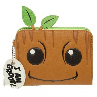 Guardians of the Galaxy I Am Groot Zip Around Wallet Marvel Movie Bioworld Baby on Lookza