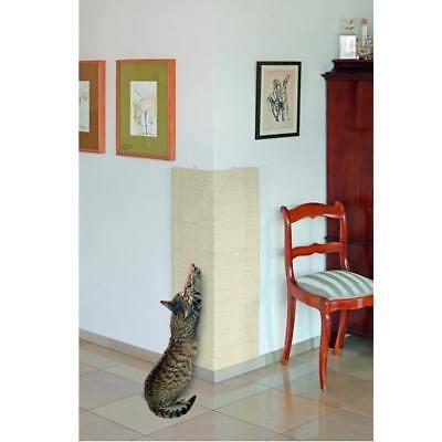 großes XXL Sisal Eck- Kratzbrett für Katzen 100 x 56 cm - für Innen- Außenecken