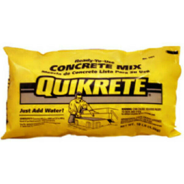 Quikrete 110110 Ready-To-Use Concrete Mix, 10 Lbs