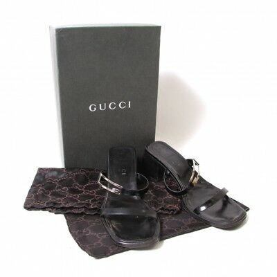 GUCCI Metal buckle leather sandals Size 37.5(K-51227)