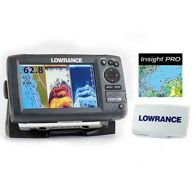 New Lowrance Hook-7 DSI CHIRP BUNDLE w/ Transducer+Nautic Insight Pro+Sun Cover