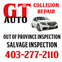 Out of province inspection $126.00 & Salvage inspection $336.00