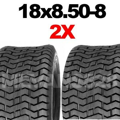 PAIR 18x8.50-8 TYRES Ride on lawn mower Grass Lawn & turf Tread TWO 18 x 850 - 8