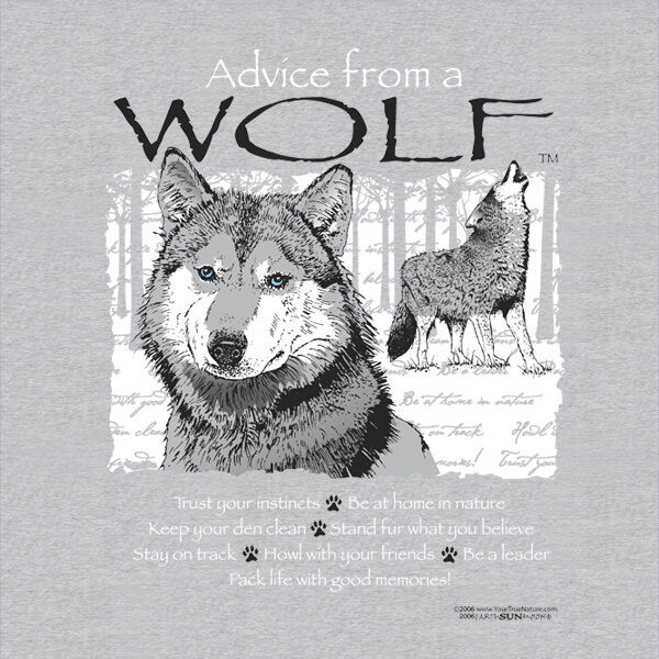 ADVICE FROM A WOLF  ADULT  T-SHIRT XX-LARGE
