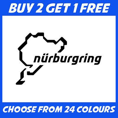 Nurburgring ANY COLOUR JDM Euro Drift Car Bumper Sticker Window Vinyl Decal