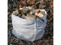 Seasoned Hard Wood Logs Dumpy Bag For Sale Free Deliver to Local Area