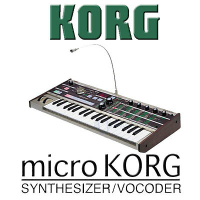 Korg MicroKORG Micro KORG 37-Key Synthesizer Vocoder on Rummage