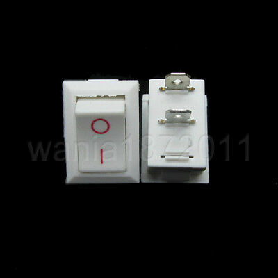 5 Mini Rocker Switch White 2 Pin Spst On-off 2013mm Snap-in