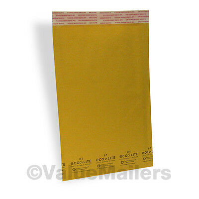 100 1 Kraft 7.25x12 Ecolite Bubble Mailers Padded Envelope 100 9x12 Clear Bags