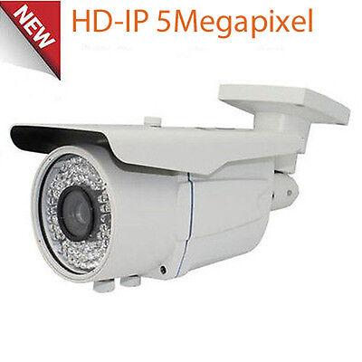 HD 5MP High Definition PoE IP 72IR Security Camera 2.8-12mm Lens OSD Menu ONVIF