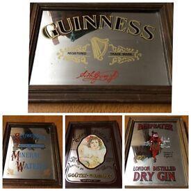 Vintage pub mirrors