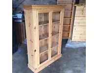 Quality pine display cabinet