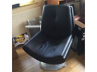 Brand new real leather swivel chair